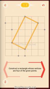 Pythagorea Walkthrough 11 Rectangles Level 9