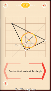Pythagorea Walkthrough 16 Angle-Bisectors Level 11