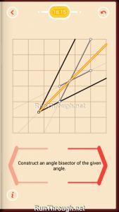 Pythagorea Walkthrough 16 Angle-Bisectors Level 15