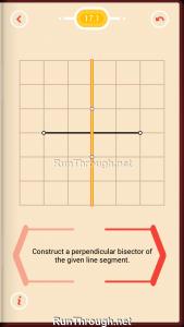 Pythagorea Walkthrough 17 Perpendicular-Bisectors Level 1