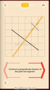 Pythagorea Walkthrough 17 Perpendicular-Bisectors Level 8