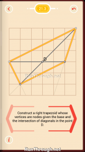 Pythagorea Walkthrough 21 Right-Trapezoids Level 3