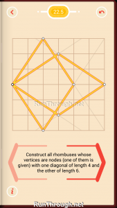Pythagorea Walkthrough 22 Rhombuses Level 5