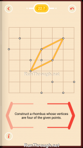 Pythagorea Walkthrough 22 Rhombuses Level 7