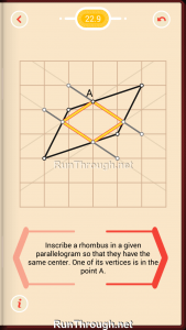 Pythagorea Walkthrough 22 Rhombuses Level 9