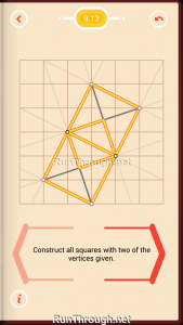Pythagorea Walkthrough 9 Squares Level 13