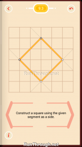 Pythagorea Walkthrough 9 Squares Level 3