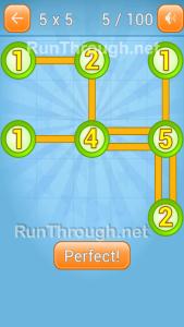 LinkyDots 5x5 Level 5