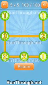 Linky Dots Walkthrough 5x5 Pack Level 100