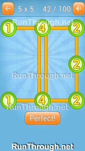 Linky Dots Walkthrough 5x5 Pack Level 42