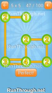 Linky Dots Walkthrough 5x5 Pack Level 47