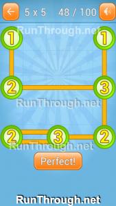 Linky Dots Walkthrough 5x5 Pack Level 48