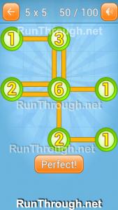 Linky Dots Walkthrough 5x5 Pack Level 50