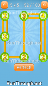 Linky Dots Walkthrough 5x5 Pack Level 52
