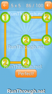 Linky Dots Walkthrough 5x5 Pack Level 86