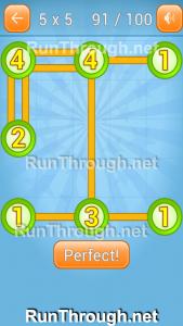Linky Dots Walkthrough 5x5 Pack Level 91