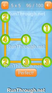 Linky Dots Walkthrough 5x5 Pack Level 96