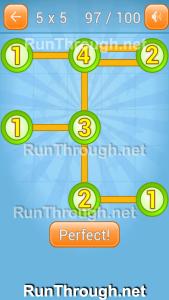 Linky Dots Walkthrough 5x5 Pack Level 97