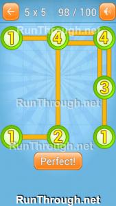 Linky Dots Walkthrough 5x5 Pack Level 98