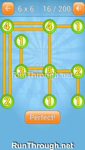 Linky Dots Walkthrough 6x6 Level 16