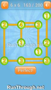 Linky Dots Walkthrough 6x6 Level 163
