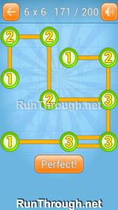 Linky Dots Walkthrough 6x6 Level 171