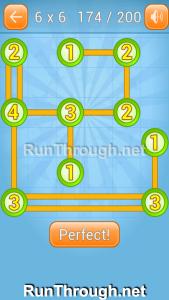 Linky Dots Walkthrough 6x6 Level 174