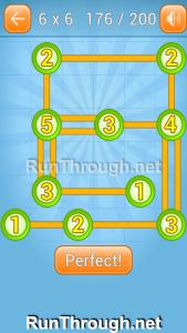 Linky Dots Walkthrough 6x6 Level 176