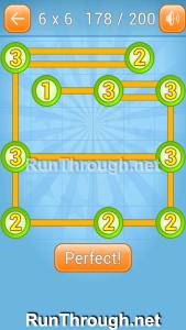 Linky Dots Walkthrough 6x6 Level 178
