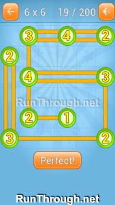 Linky Dots Walkthrough 6x6 Level 19