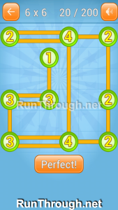 Linky Dots Walkthrough 6x6 Level 20