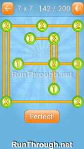 Linky Dots Walkthrough 7x7 Level 142