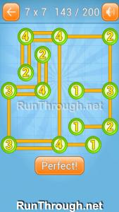 Linky Dots Walkthrough 7x7 Level 143