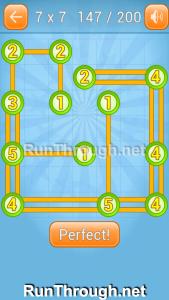 Linky Dots Walkthrough 7x7 Level 147