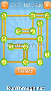 Linky Dots Walkthrough 7x7 Level 151