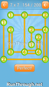 Linky Dots Walkthrough 7x7 Level 154