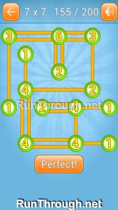 Linky Dots Walkthrough 7x7 Level 155