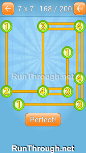 Linky Dots Walkthrough 7x7 Level 168