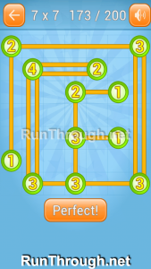 Linky Dots Walkthrough 7x7 Level 173