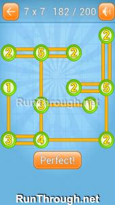 Linky Dots Walkthrough 7x7 Level 182
