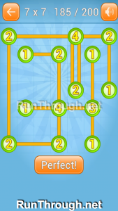 Linky Dots Walkthrough 7x7 Level 185