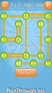Linky Dots Walkthrough 7x7 Level 186