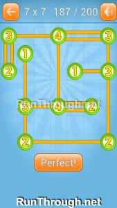 Linky Dots Walkthrough 7x7 Level 187