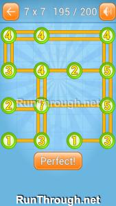 Linky Dots Walkthrough 7x7 Level 195