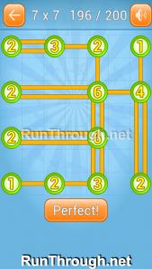 Linky Dots Walkthrough 7x7 Level 196