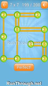 Linky Dots Walkthrough 7x7 Level 199