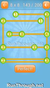 Linky Dots Walkthrough 8x8 Level 143