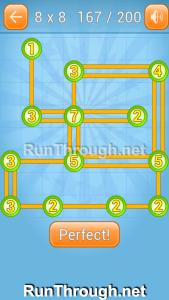 Linky Dots Walkthrough 8x8 Level 167