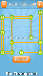 Linky Dots 9x9 Walkthrough Level 165