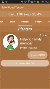 Idle Wood Tycoon Planters
